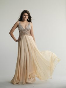 Champagne Color Prom Dresses