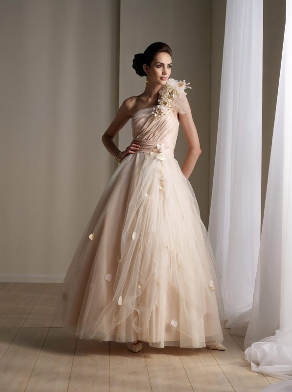 Champagne colored dresses dressed up girl for Jewelry for champagne wedding dress