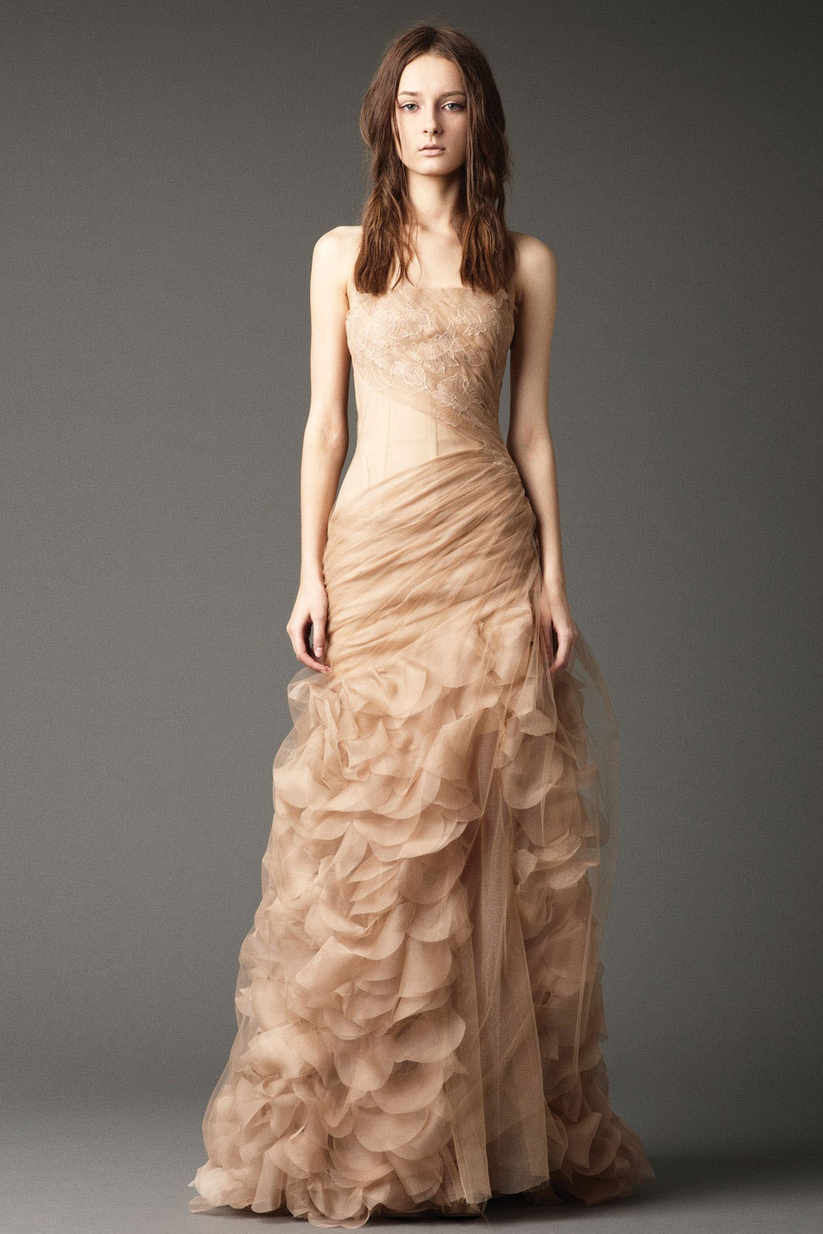 Champagne colored dresses dressed up girl for Wedding dresses in color