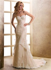 Champagne Lace Wedding Dresses