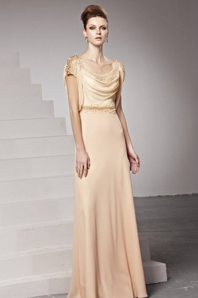 Champagne Long Dress Dressed Up Girl