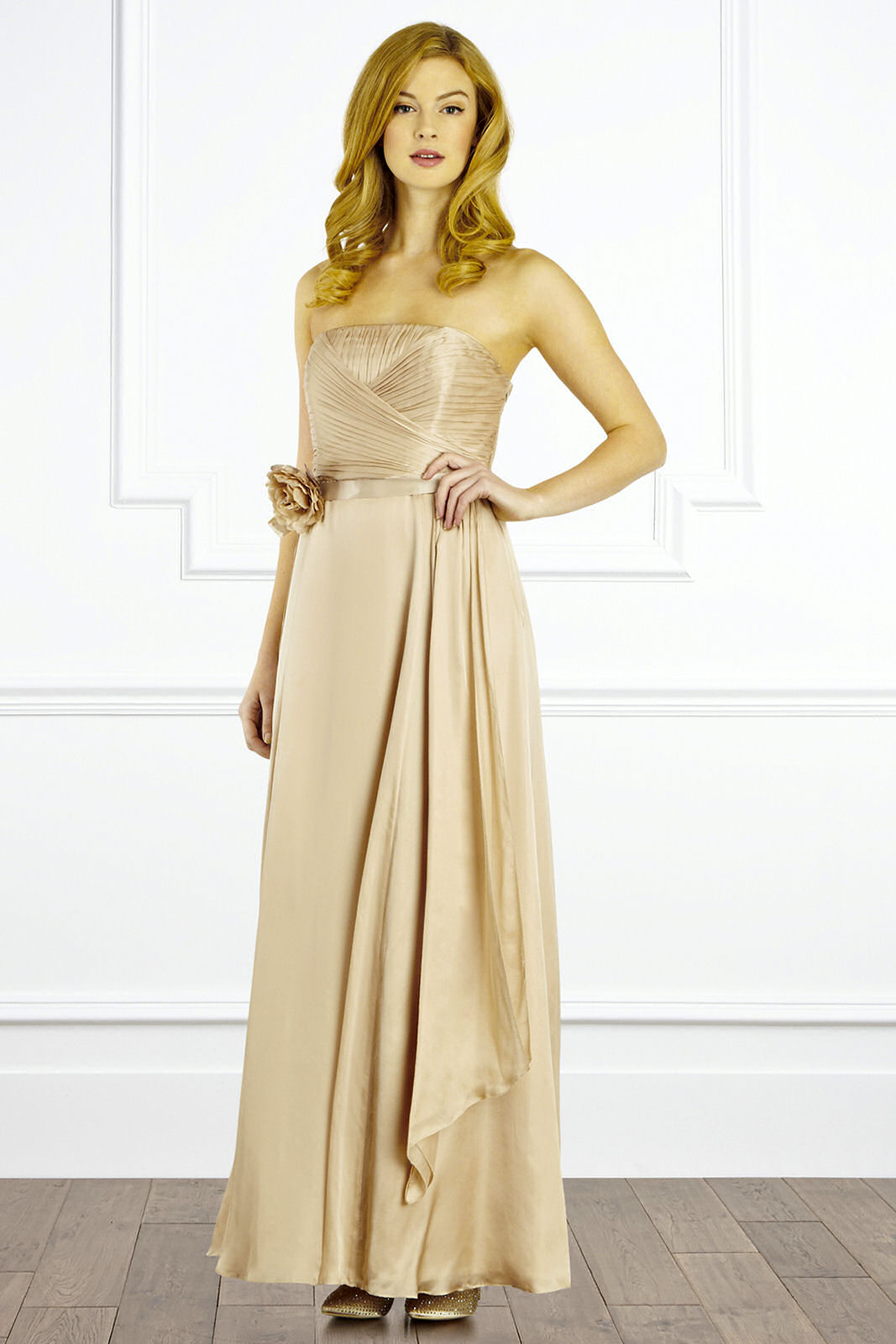 Champagne Maxi Dress Dressed Up Girl
