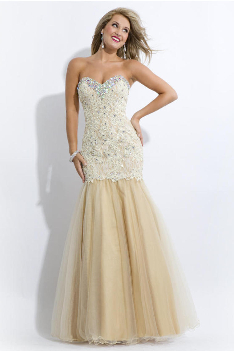 champagne mermaid prom dresses wwwimgkidcom the
