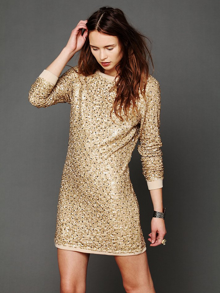 Champagne Sequin Dress | Dressed Up Girl