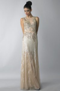 Champagne Sequin Long Dress