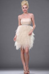 Champagne Strapless Cocktail Dress