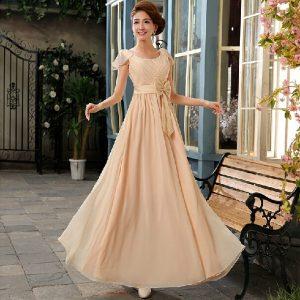 Chiffon Champagne Bridesmaid Dresses
