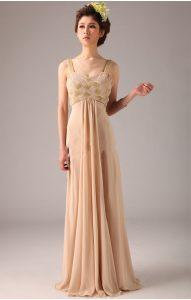 Chiffon Champagne Dress