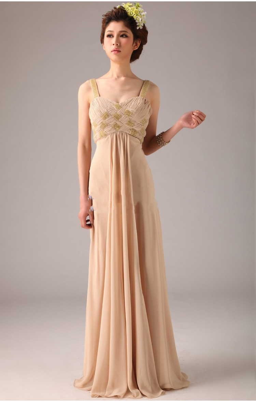 Champagne Chiffon Dress Dressedupgirl Com