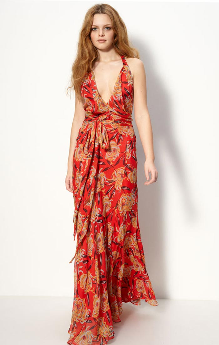 Chiffon Floral Long Maxi Dress