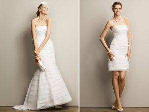 Convertible Wedding Dress Long to Short