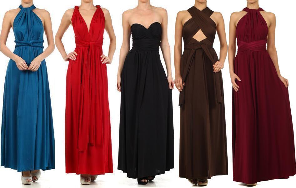 Convertible Wrap Dress Dressedupgirl Com