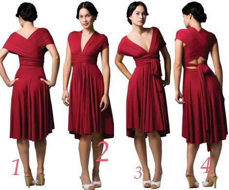 Convertible Wrap Dress   DressedUpGirl.com