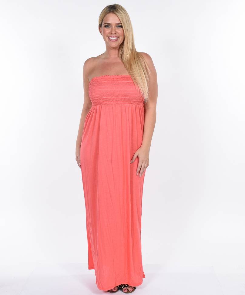 Coral Maxi Dress | DressedUpGirl.com