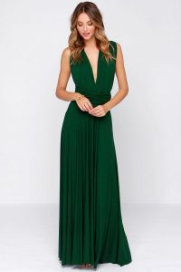 Dark Green Maxi Dress