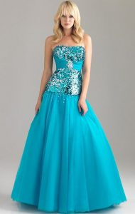 Drop Waist Ball Grown Prom Dress