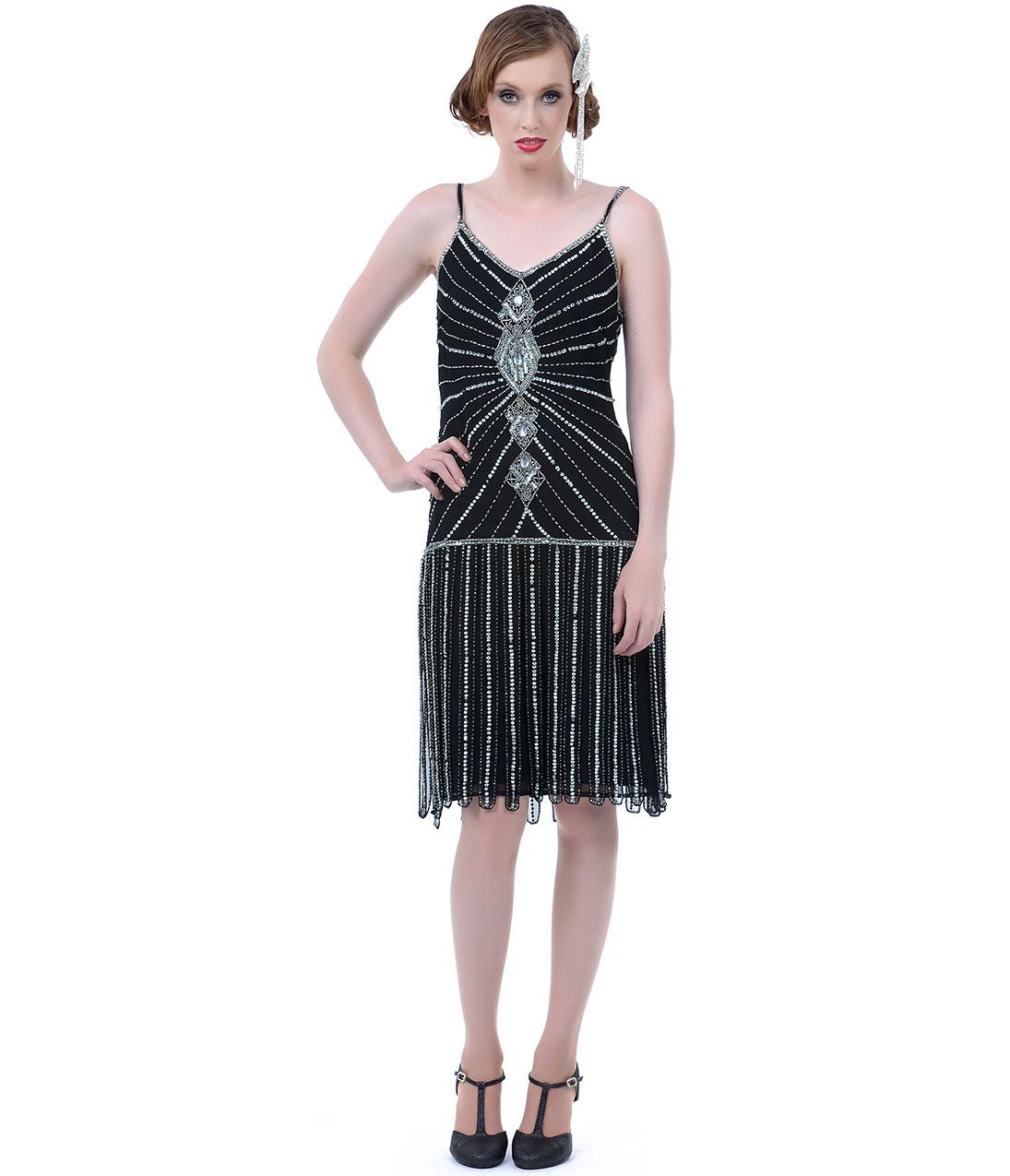 Beaded Drop Waist Dress | DressedUpGirl.com