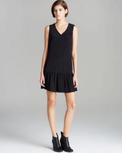 Drop Waist Black Dress