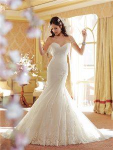 Drop Waist Lace Wedding Dress