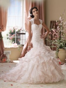 Drop Waist Mermaid Wedding Dress