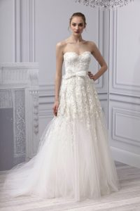 Drop Waist Tulle Wedding Dress