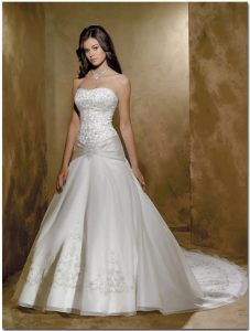 Drop Waist Wedding Dress