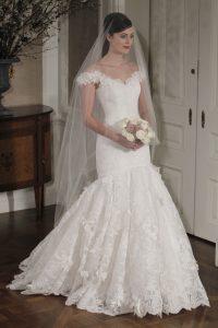 Drop Waist Wedding Dress with Sleeves