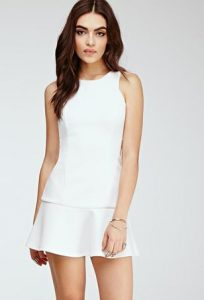 Drop Waist White Dress