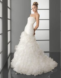 Drop Waisted Wedding Dresses