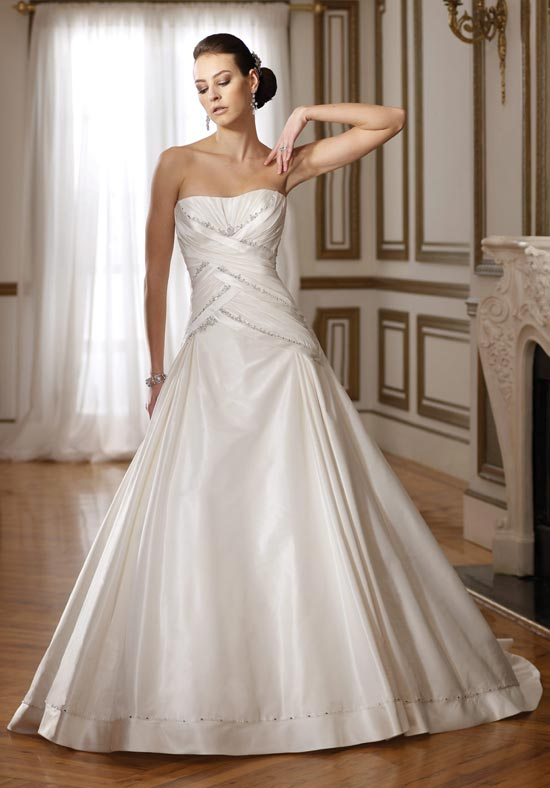 Drop Waist Wedding Dress | DressedUpGirl.com