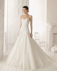 Dropped Waist Wedding Dresses