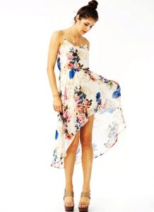 Floral High Low Dress Images