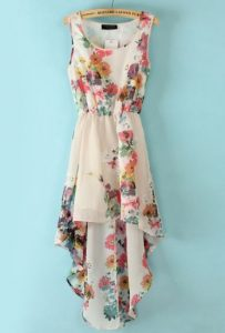 Floral High Low Dress Pictures