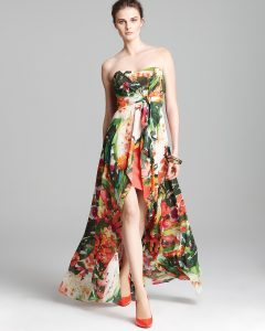 Floral High Low Dresses Pictures