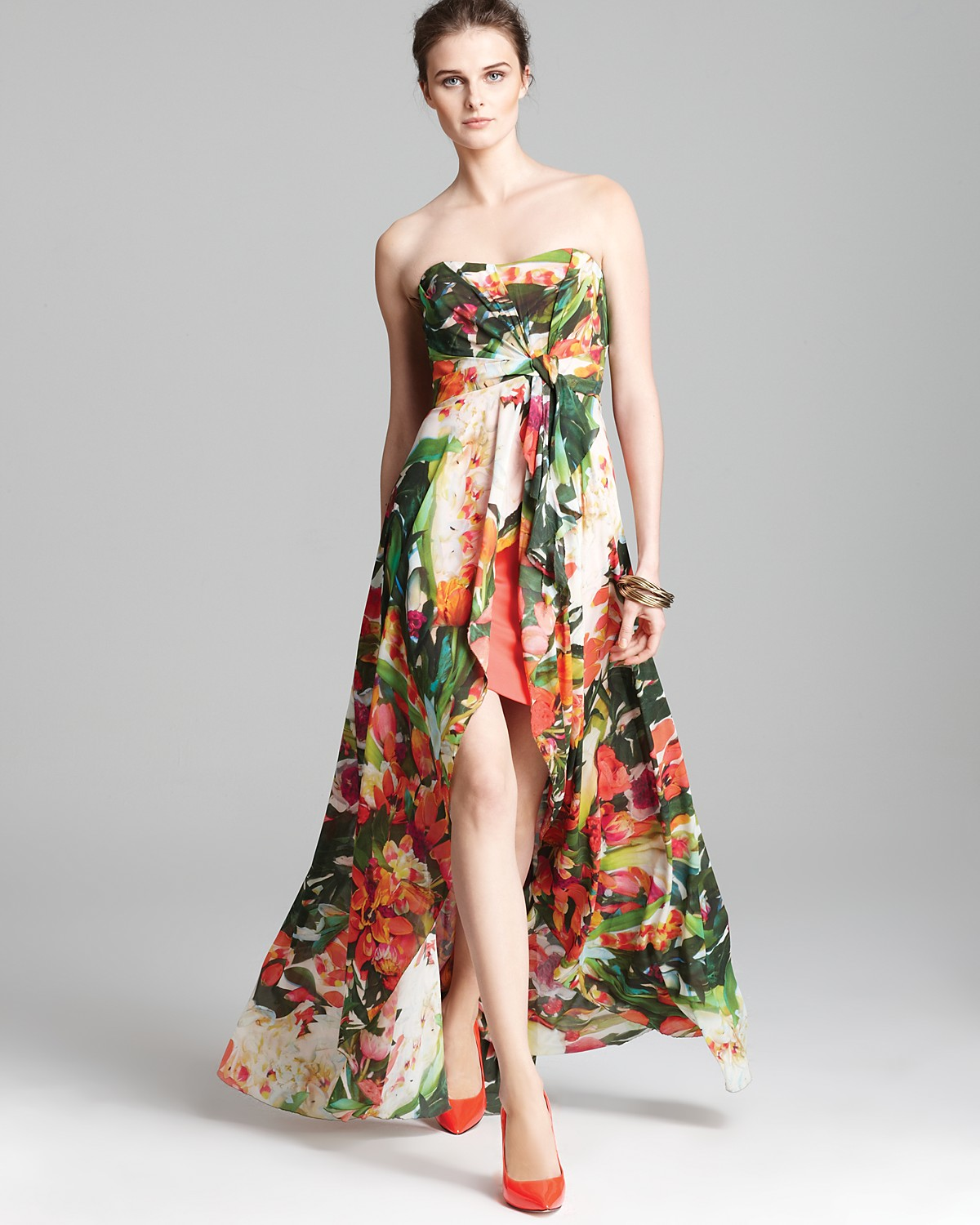 Floral High Low Dress | Dressed Up Girl