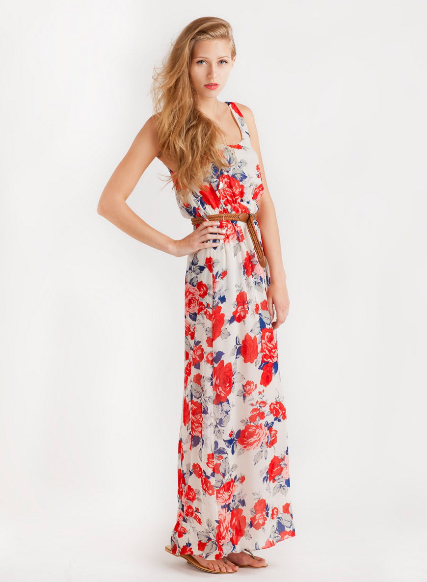 Floral Maxi Dress | Dressed Up Girl