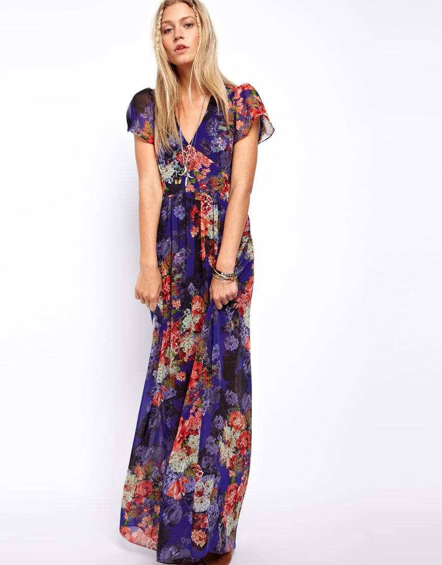 Floral Maxi Dress Dressed Up Girl