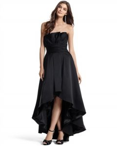 High Low Black Dress