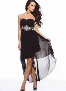 High Low Black Dresses