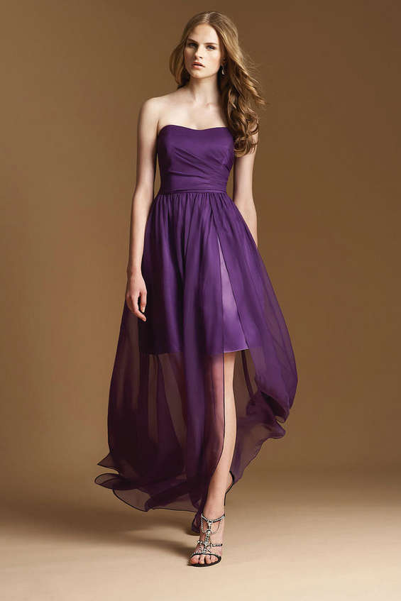 High Low Chiffon Bridesmaid Dresses