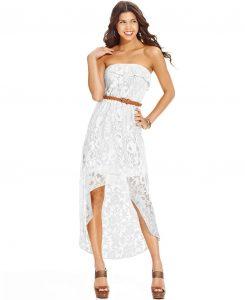 High Low Dresses White