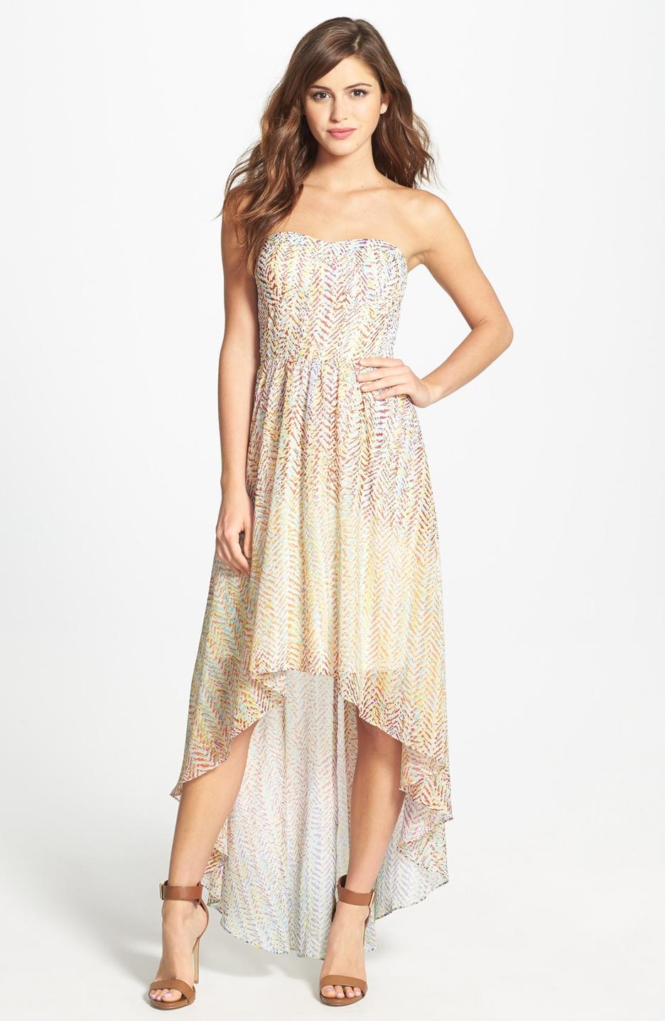 High Low Chiffon Dress Dressedupgirl Com