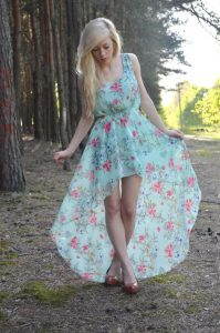 High Low Maxi Dress Chiffon