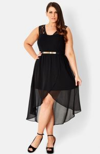 High Low Plus Size Dress