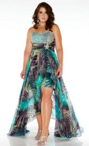 High Low Plus Size Prom Dresses