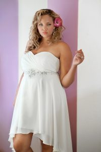 High Low Plus Size Wedding Dresses