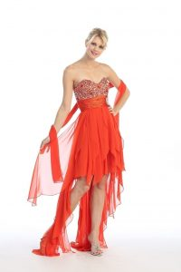 High Low Strapless Dresses