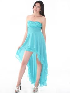 High Low Teal Dress