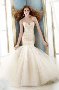 Lace Drop Waist Prom Dress