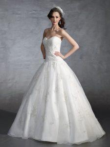 Lace Drop Waist Wedding Dress